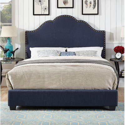 Benedict Camelback Upholstered Panel Bed Size: King
