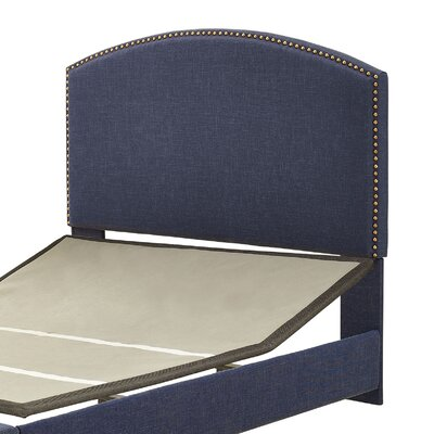 Haggins Upholstered Panel Headboard Size: California King, Upholstered: Navy Linen