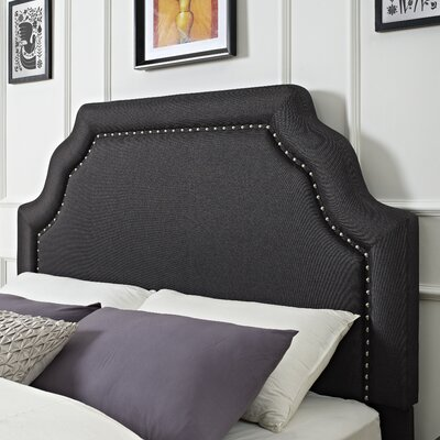 Stearns Upholstered Panel Headboard Size: King, Color: Charcoal