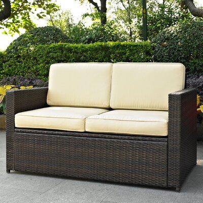 Belton Loveseat with Cushions Fabric: Tan