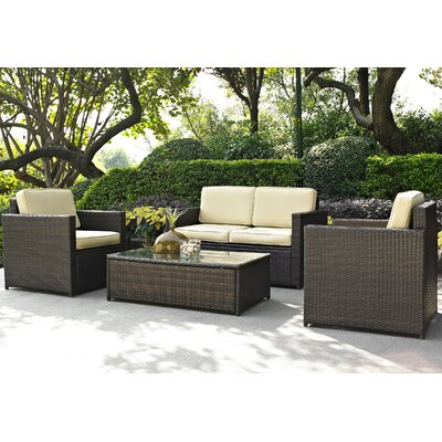 Crosley Palm Harbor 4 Piece Deep Seating Group with Cushions at Sears.com