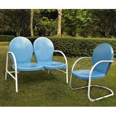 Samson 2 Piece Seating Group Finish: Sky Blue