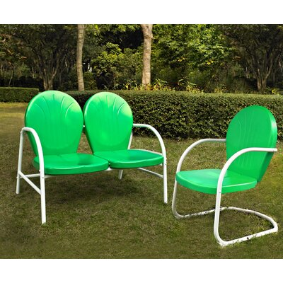 Samson 2 Piece Seating Group Finish: Grasshopper Green