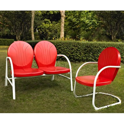 Samson 2 Piece Seating Group Finish: Red