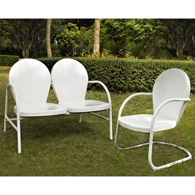 Samson 2 Piece Seating Group Finish: White