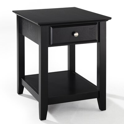 Cheap Crosley End Table with Storage Drawer in Black (CRY1750)