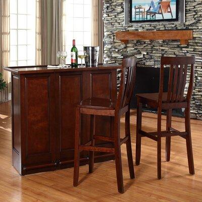 Bar Set with Wine Storage Finish: Vintage Mahogany