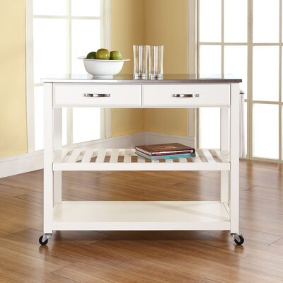 In store financing Kitchen Cart with Stainless Steel T...
