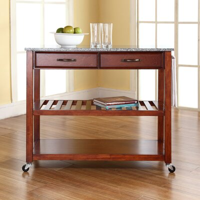 Kitchen Island with Granite Top Frame Finish: Cherry