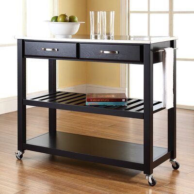 Bad credit financing Kitchen Cart with Stainless Steel T...