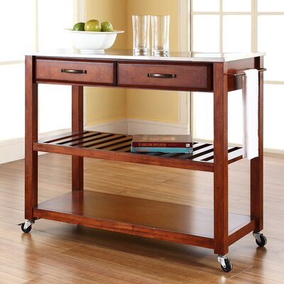 No credit financing Kitchen Cart with Stainless Steel T...