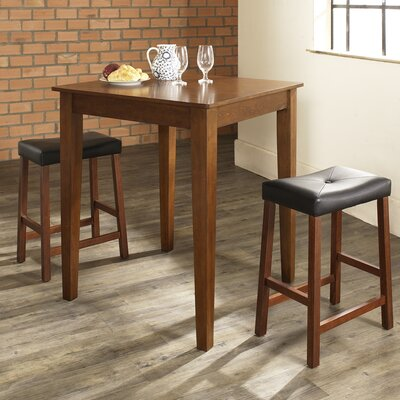Dylan 3 Piece Pub Table Set Color: Classic Cherry