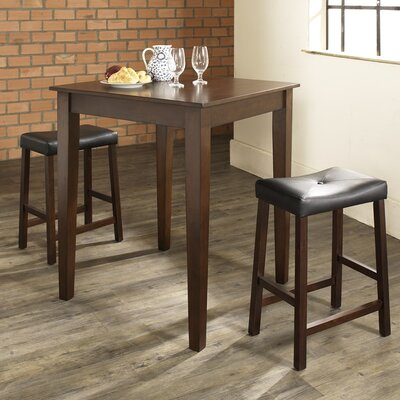 Dylan 3 Piece Pub Table Set Finish: Vintage Mahogany