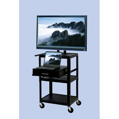 TV Cart with Storage Cabinet for up to 32