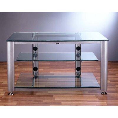 Cheap VTI HGR Series 3-Shelf 42″ TV Stand Pole Color: Black, Glass: Clear (VI1018_1180_544494)