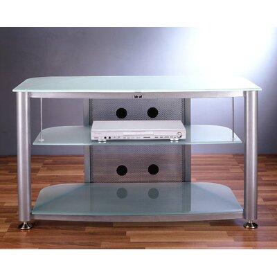 Cheap VTI RGR Series 3-Shelf 43″ TV Stand Pole Color: Black, Glass: Clear (VI1057_121158_121160)
