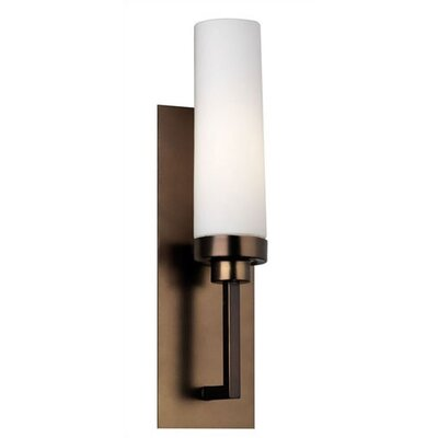 Nicole Cylinder Wall Sconce in Etched White Opal Glass