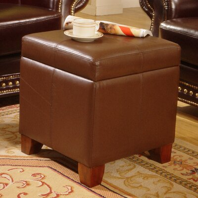 Storage Leather Ottoman
