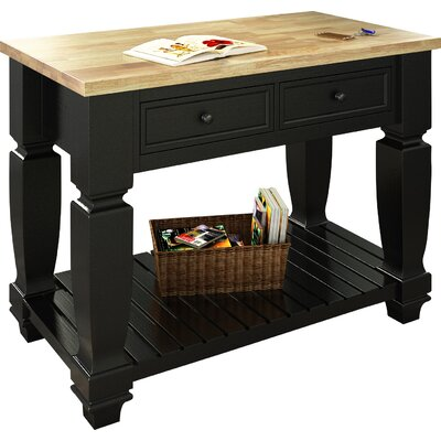 Chelsea Kitchen Island with Wood Top