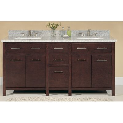 Blanco 72 Double Bathroom Vanity Set