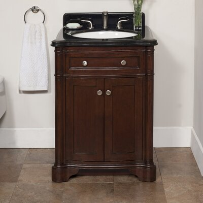 Chester 26 Single Bathroom Vanity Set Top Finish: Sichuan Black Granite