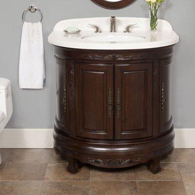 Moon 35 Single Bathroom Vanity Set Top Finish: Polished Marble