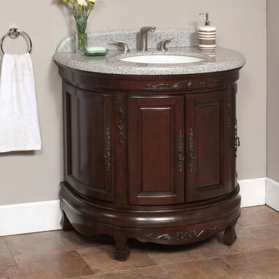 Moon 35 Single Bathroom Vanity Set Top Finish: Polished Granite