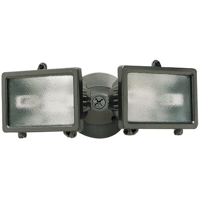 150 Watt Twin Halogen Security Flood Light Finish: Bronze