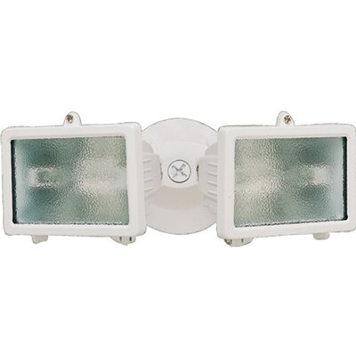 150 Watt Twin Halogen Security Flood Light Finish: White