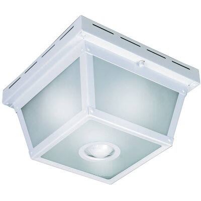 360 Degree Motion Activated 4-Light Flush Mount Finish: White
