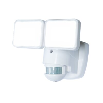 180� Motion Activated 2-Light Security Light Finish: White