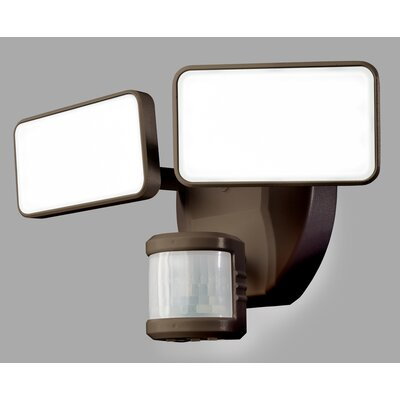 180� Motion Activated 2-Light Security Light Finish: Bronze
