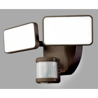 240� Motion Activated 2-Light Security Light Finish: Bronze
