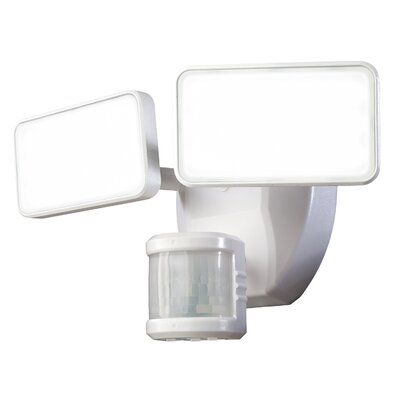 240� Motion Activated 2-Light Security Light Finish: White