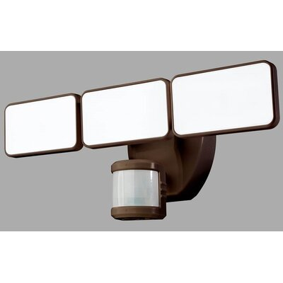 240� Motion Activated 3-Light LED Security Light Finish: Bronze