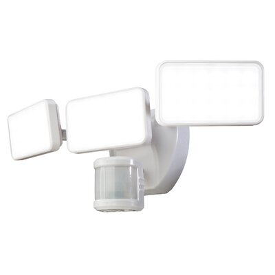 240� Motion Activated 3-Light LED Security Light Finish: White