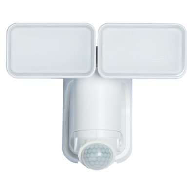 Solar Motion Activated 2-Light Security Light Finish: White