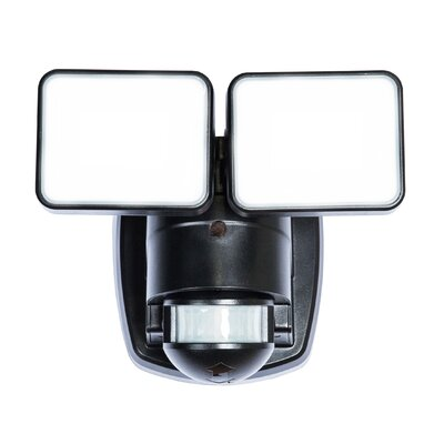 180� Motion Activated 2-Light Security Light Finish: Black