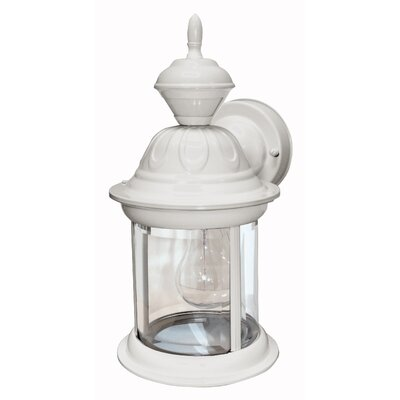Heath-Zenith Bridgeport 1 Light Outdoor Wall Lighting with Motion Sensor - Finish: Matte White at Sears.com