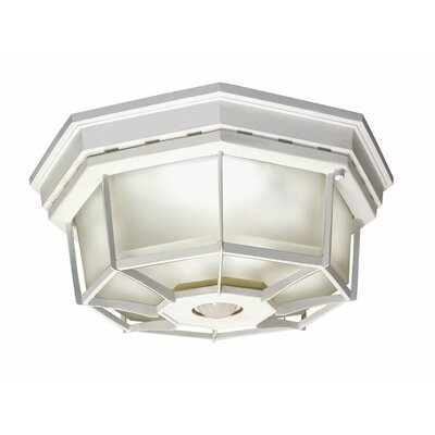 Motion Activated 4-Light Flush Mount