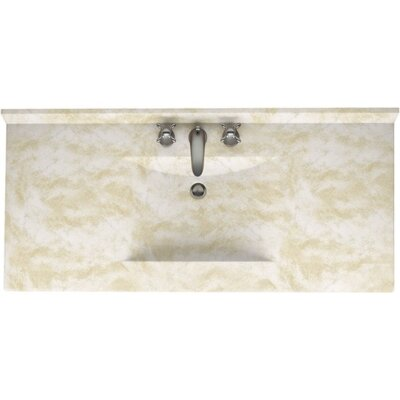 Swanstones Metropolitan 49 Single Bathroom Vanity Top Top Finish: Cloud White