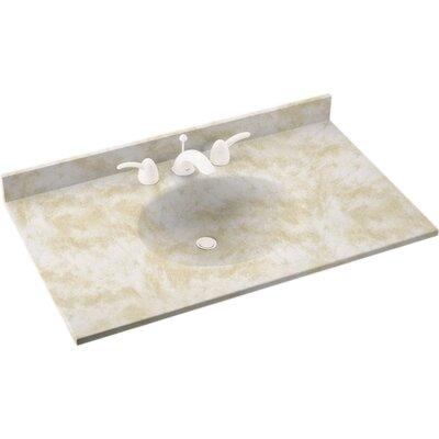 Ellipse 25 Single Bathroom Vanity Top Top Finish: Cloud White