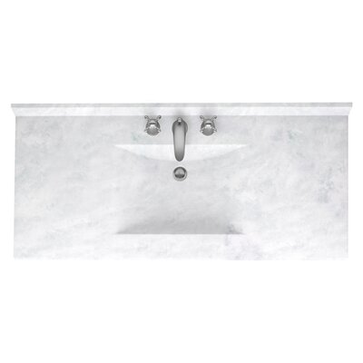 Contour 49 Single Bathroom Vanity Top Top Finish: Matte White