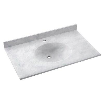 Ellipse 31 Single Bathroom Vanity Top Top Finish: Ice