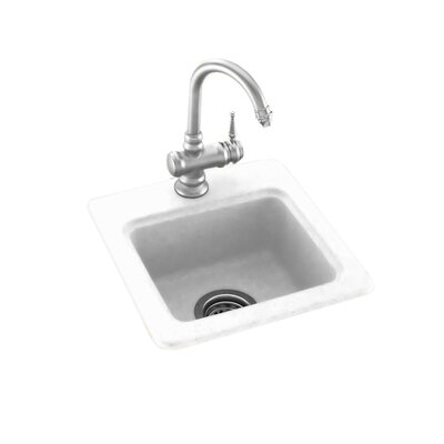 15 x 15 Drop-In/Undermount Bar Sink Finish: White