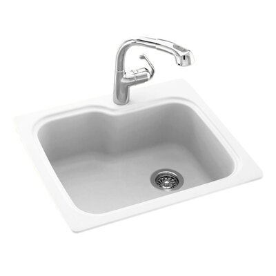 25 x 22 Drop-In Kitchen Sink Finish: White