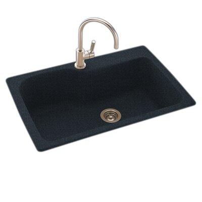 33 x 22 Drop-In/Undermount Kitchen Sink Finish: Black Galaxy