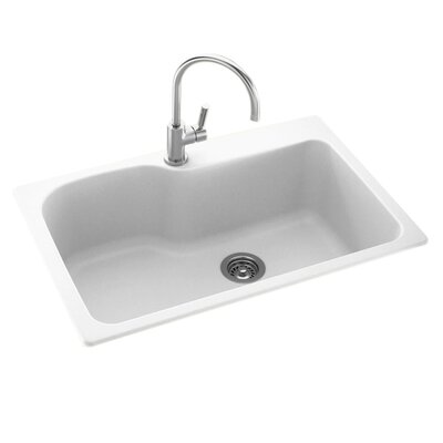 33 x 22 Drop-In/Undermount Kitchen Sink Finish: White