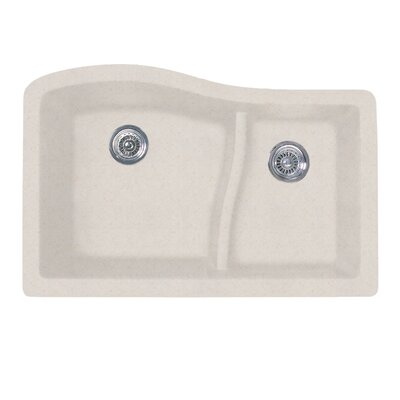 32 x 21 Double Basin Undermount Kitchen Sink Finish: Granito