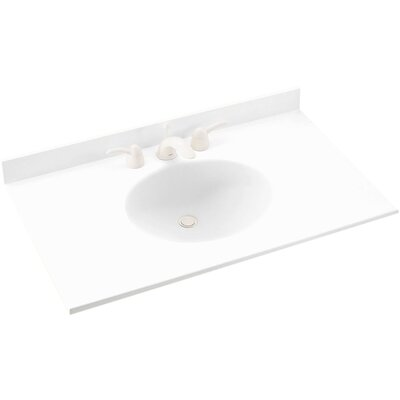 Ellipse 43 Single Bathroom Vanity Top Top Finish: White